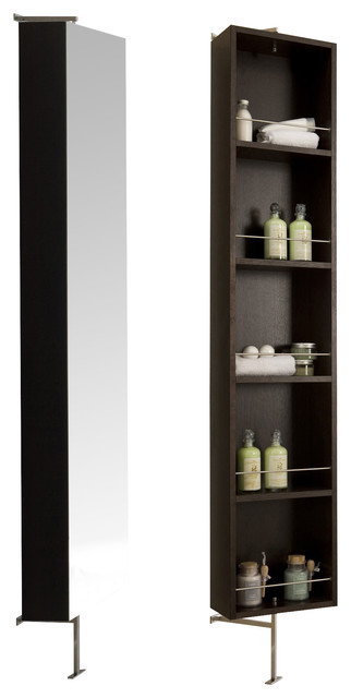 Due Rotating Mirror-Shelf Cabinet., Wenge - Contemporary - Bathroom Cabinets And Shelves - by ...