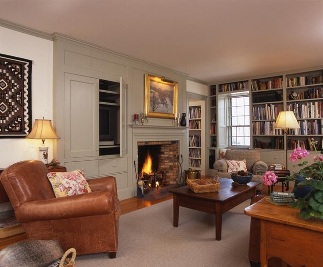 Newburyport Federal - Family Room traditional-family-room