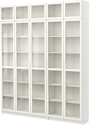 BILLY Bookcase with glass-door modern bookcases cabinets and computer armoires