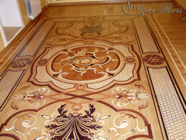 Custom Wood Rug Inlay