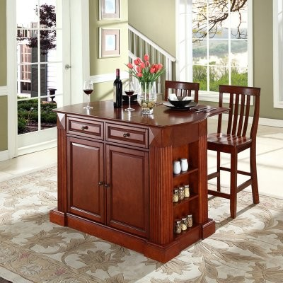 Adding the Drop Leaf Breakfast Bar Top Kitchen Island with 24 in. School House S modern-kitchen-islands-and-kitchen-carts
