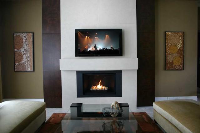 Custom Lightweight Concrete Fireplace Surround