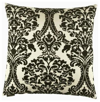Linetta Flocked Print 24 x 24 Pillow modern-bed-pillows
