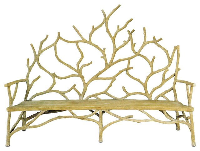 Currey and Company Elwynn Bench-Large traditional-benches