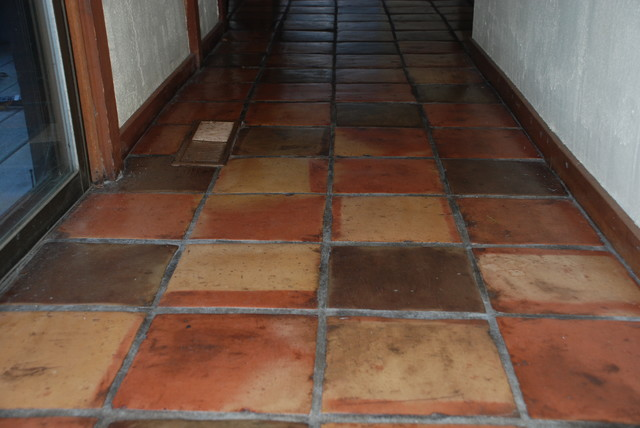 Terra Cotta Tile Floor Eclectic Boston