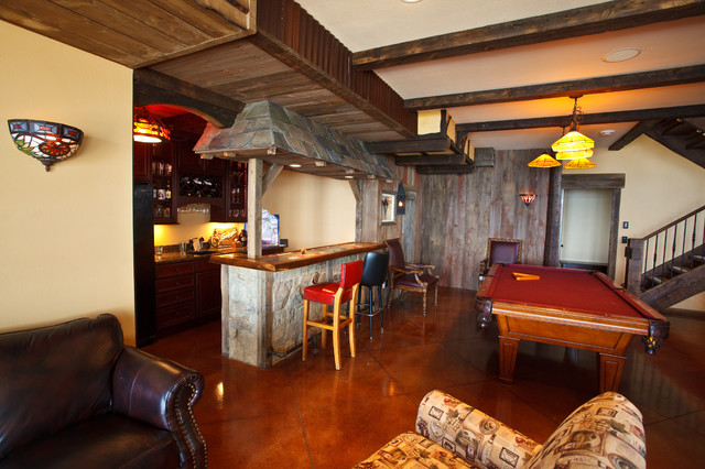 Armynster Lake House Eclectic Basement Milwaukee