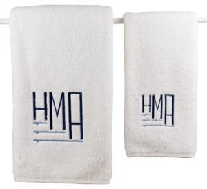 Matouk Milagro Monogram Towels contemporary-towels
