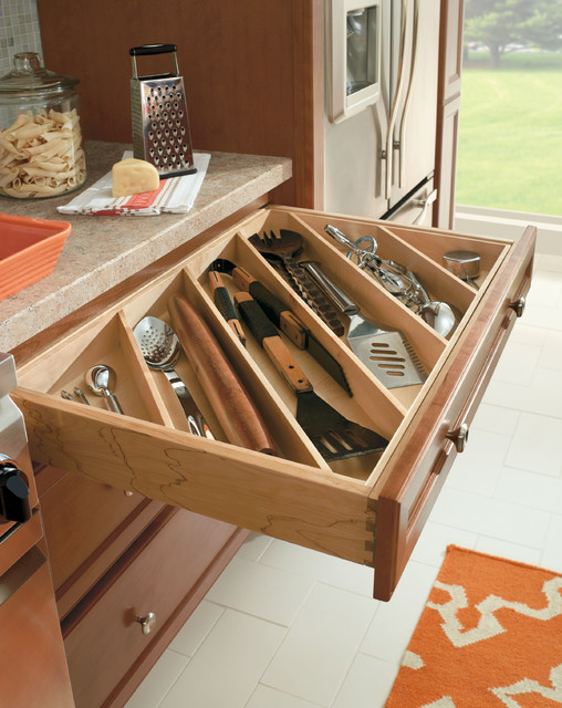 Homecrest Cutlery Utensil Divider - Traditional - Kitchen Drawer Organizers - other metro - by ...