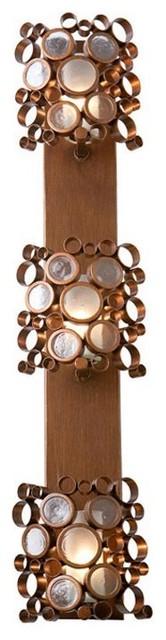 Fascination Three Light Vertical Halogen Sconce-HO contemporary-bathroom-vanity-lighting