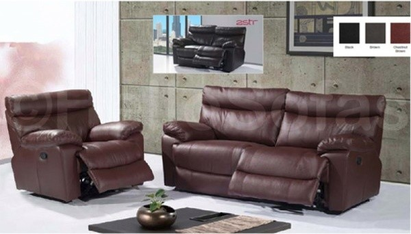 Baxter Leather Recliner 3 + 2 Seater Sofa modern-sofas