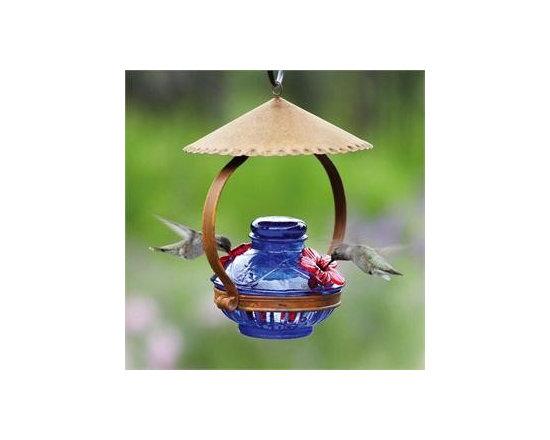 Pot de Creme™ Shelter Hummingbird Feeder -