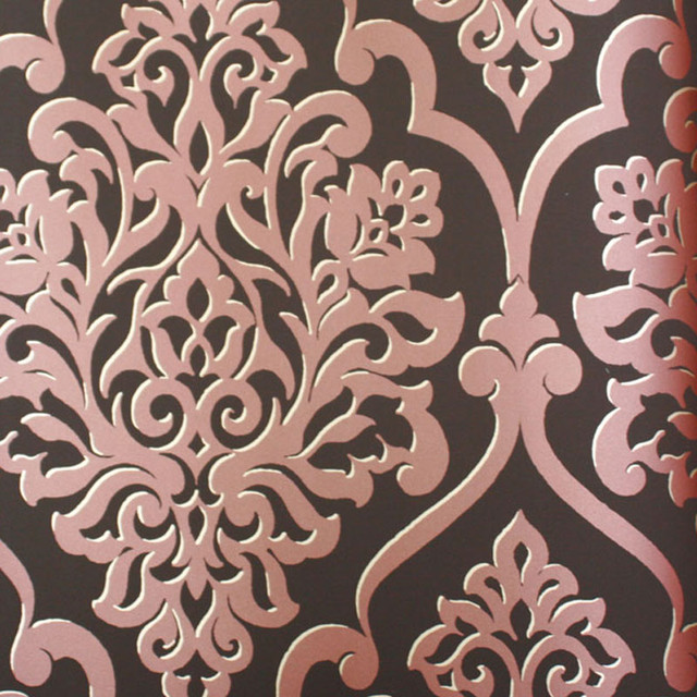 brown on brown damask wallpaper - photo #35
