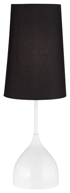 Contemporary Chalice Modern White Table Lamp contemporary-table-lamps