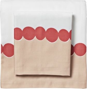 Deep Coral Deco Dot Sheet Set - contemporary - sheet sets - - by ...