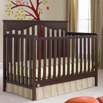 Fisher-Price Ayden 4-in-1 Convertible Crib - Cherry modern-cribs