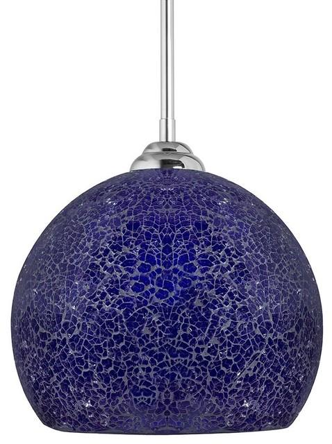 one light stem hung pendant lamp cobalt blue contemporary pendant. Black Bedroom Furniture Sets. Home Design Ideas