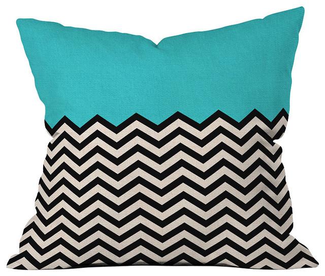 DENY Designs Bianca Green Follow The Sky Throw Pillow contemporary-decorative-pillows