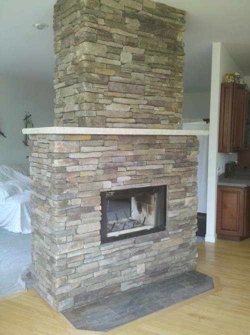 What is the color of this southern ledgestone used on this for Stonecraft fireplaces