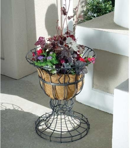 Austram Round Metal Diana Planter Urn traditional-outdoor-pots-and-planters