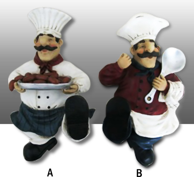Fat Chef Kitchen Wall Figurine Towel Hanger Art Decor ...