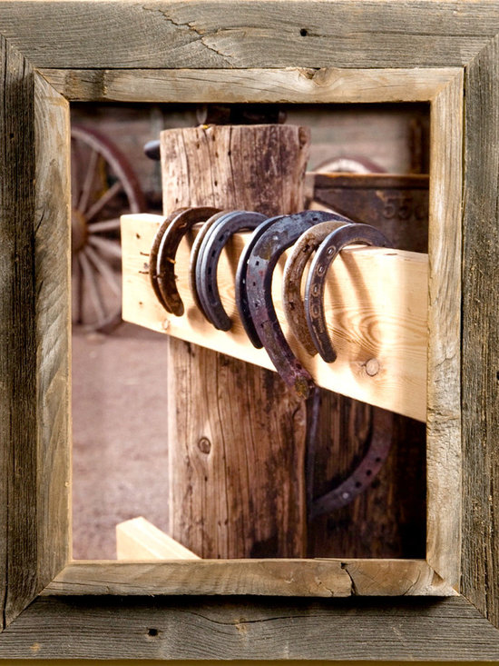 MyBarnwoodFrames - 8x8 Cowboy Picture Frames, 2.5 inch Wide, Western Rustic Series - Cowboy  Picture Frames      Cowboy  Picture  Frames  are  some  of  our  favorites  to  create.  Our  western  decor  enthusiasts  have  an  appreciation  for  barnwood  that  city  folk  just  can't  always  understand.  To  them,  barnwood  just  looks  old,  but  a  more  practiced  eye  can  detect  subtle  color  variations  and  rich  textures.  Of  course,  you  can  appreciate  nature  in  a  way  that  those  who  only  view  fields  of  sagebrush  from  inside  their  air-conditioned  cars  can't.  They don't  see  the  wildflowers,  the  scorpions  and  the  circling  hawks  either.           Maybe  you  can't  dismantle  the  weathered  barn  and  bring  it  indoors,  but  you  can  give  prominence  to  some  of  that  beautiful  rustic  wood  with  one  of  our  Western  Rustic  frames. Our  cowboy  picture  frames  case  a  ¾  inch  plank  edge  inside  a  1-½  inch  rustic  wood  frame.  The total  frame width  is  approximately  2.25  inches  (frame  widths  sometimes  vary  depending  on  the  width  of  the  original  barnwood  plank). This  frame-inside-frame  look  lends  itself  especially  well  to  western  rustic  subject  matter. Your  frame  includes  glass,  foam  board  backing  and  hardware  for  hanging.    Here's  the  perfect  cowboy  picture  frame  for  that  photo  of  your  daughter  on  her  first  pony  ride,  a  sunset  on  the  ranch,  or  a  painting  of  flowering  cactus.  The  unique  casing  also  makes  these  rustic  western  frames  a  great  choice  if  you  want  to  create  a  shadowbox  for  your  grandfather's  bolo  tie  clasp,  a  lucky  horseshoe,  or  a  few  dried  wildflowers. This  style  looks  great  when  paired  with  one  of  our  collage  frames.  This  is  authentic western  rustic decor  at  its  best.                   Click  here  to  view  our  entire  inventory  of  Western  and  Cowboy  Frames                