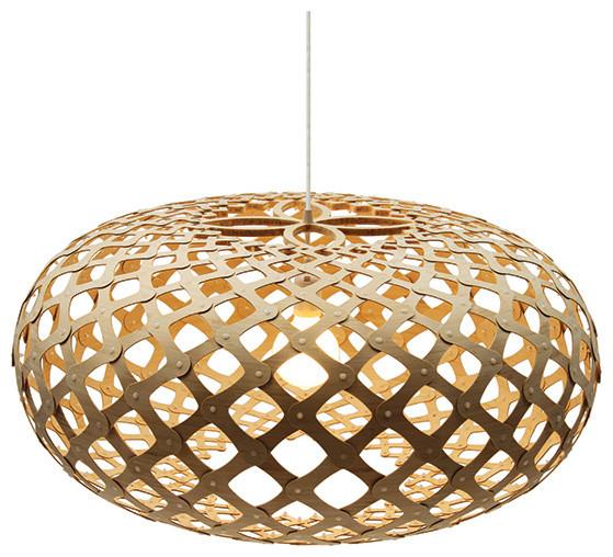 Kina Natural Pendant by David Trubridge contemporary-pendant-lighting