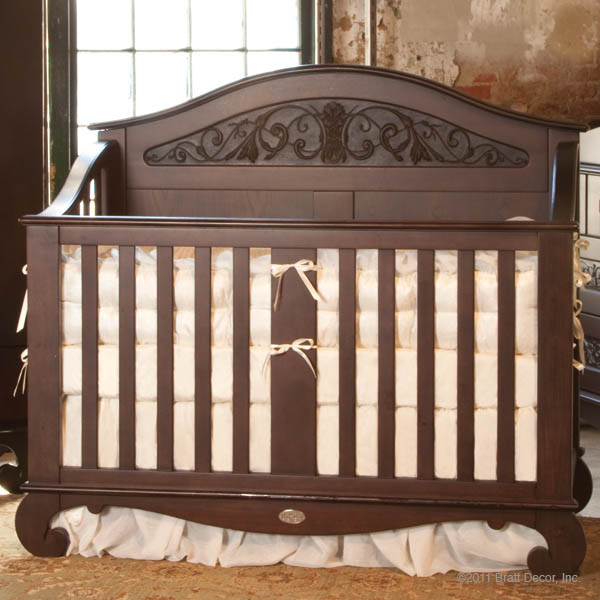 Chelsea lifetime convertible crib espresso bratt decor for Baby crib decoration