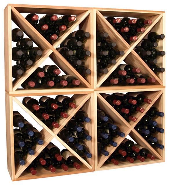 96-Bottle Wine Storage Cube contemporary-wine-racks