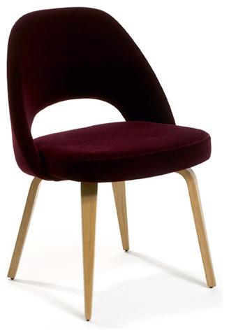 Knoll Saarinen Executive Chair with Wood Leg modern-living-room-chairs