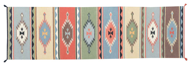 Hand Woven Flat Weave Southwest Design Sh11680 transitional-rugs