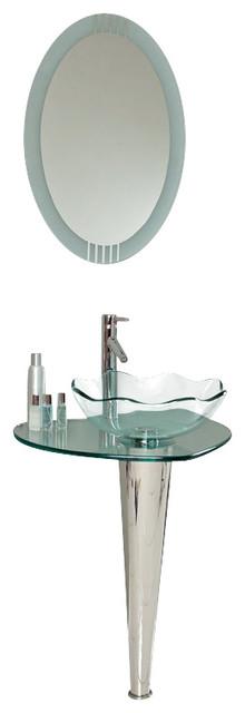 Fresca Netto Modern Glass Bathroom Vanity w/Wavy Edge Vessel Sink modern-bathroom-vanities-and-sink-consoles
