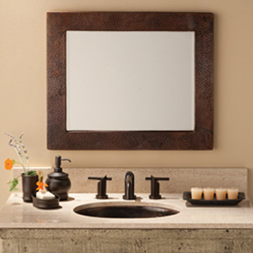 Sedona Small Rectangle Copper Mirror by Native Trails traditional