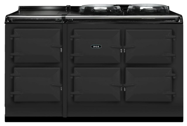 AGA Total Control 5 Oven Range Cooker, Pewter | ATC5-PWT - Gas Ranges And Electric Ranges - los ...