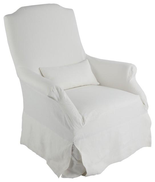 Aidan Gray Portia Chair Slipcover traditional-chairs