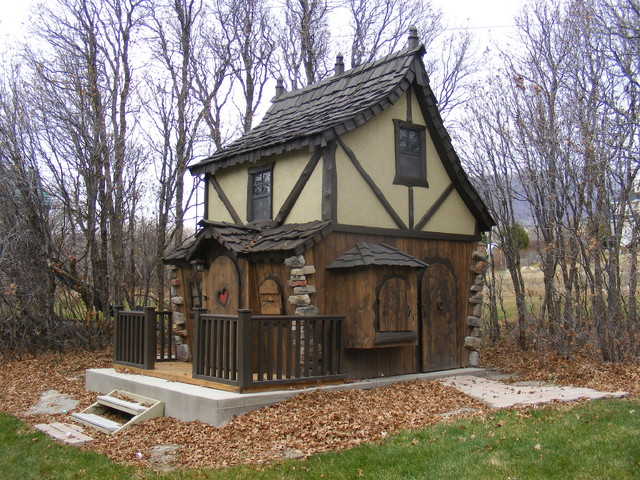 Bavarian Cottage Playhouse - Traditional - Outdoor ...