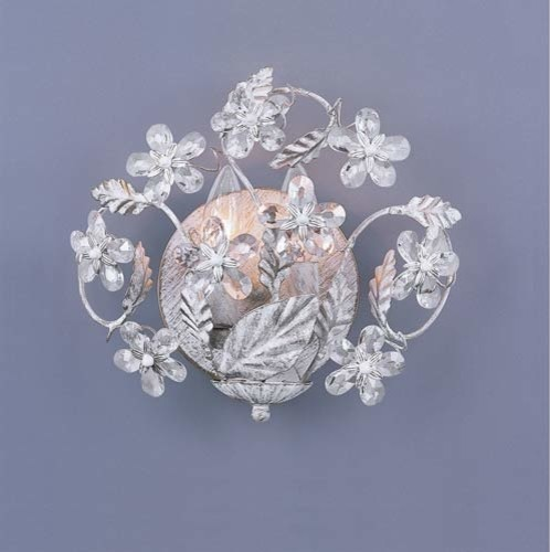 Small Crystal Wall Sconces : Paris Flea Small Crystal Wall Sconce - Modern - Wall Sconces