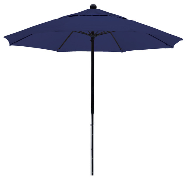 7 5 foot sunbrella fabric fiberglass frame pulley lift patio market umbrella contemporary