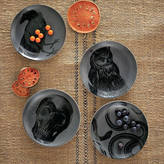 New Spooky Canapé Plates modern holiday decorations