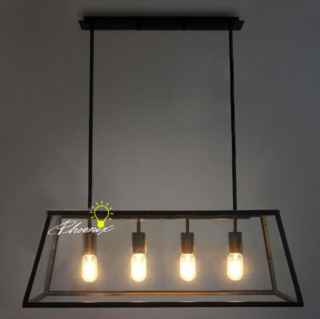 Iron and glass Pendant Lighting - Contemporary