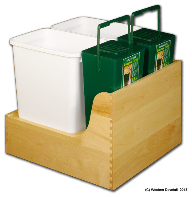 Waste and Recycle Drawers - Trash Cans - san francisco - by Western Dovetail, Inc.