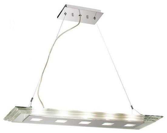 Access Lighting 50474-CH/CCL Five Light Chrome Island Light -