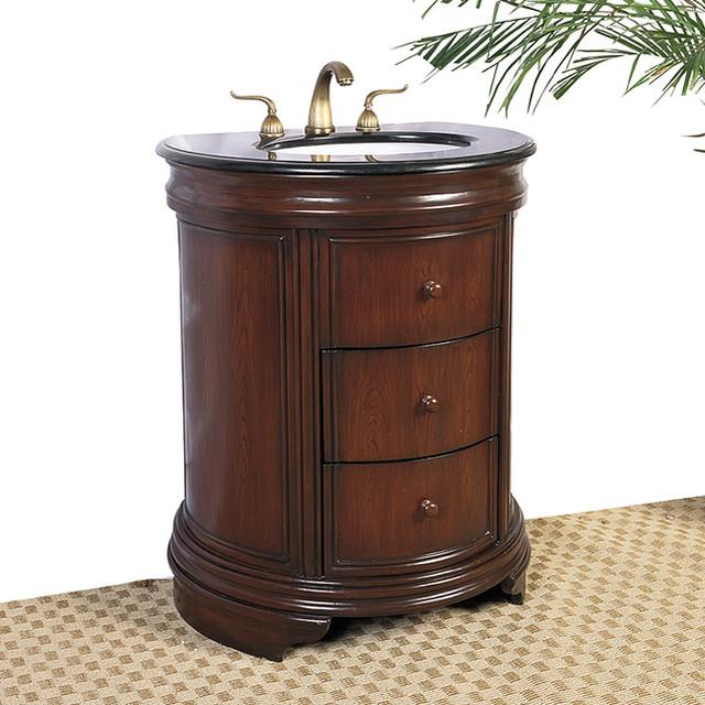 Granite top 28 inch single sink vanity contemporary for 28 inch vanity cabinet