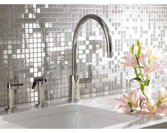 Fusion Glass and Stone Mosaic Tile - Mosaic Tiles Direct (mosaictiledirect.net) has products in marble, onyx, travertine and