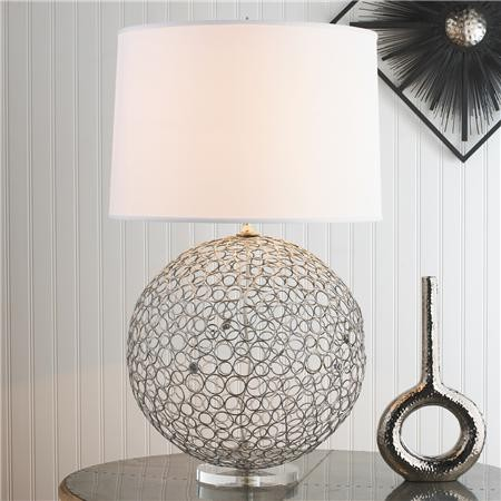 Silver Ringlet Table Lamp contemporary-table-lamps