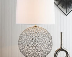 Silver Ringlet Table Lamp contemporary table lamps