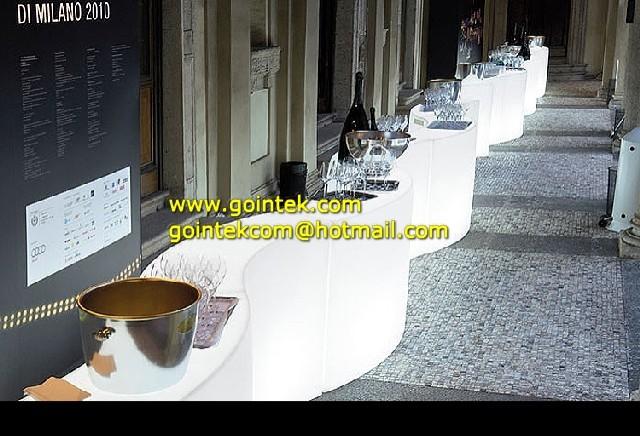 Remote Control Led Bar Counter modern-bar-tables