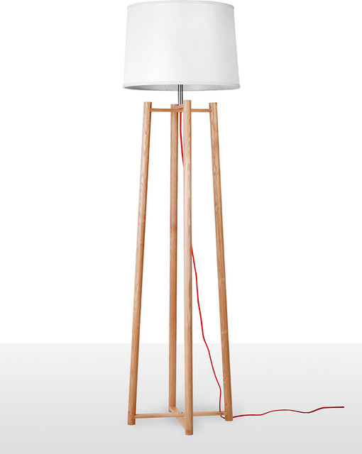 Contemperary tall quadripod floor lamp for living room for Tall lantern floor lamp
