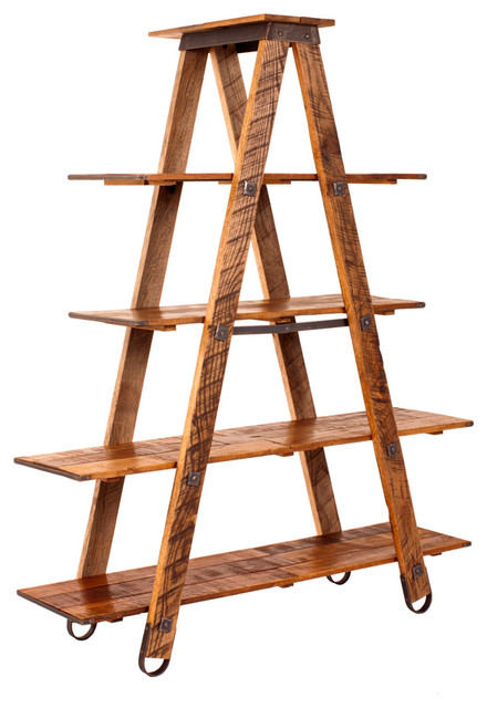 Charleston Forge Sawmill Ladder Etagere contemporary-ladders-and-step-stools
