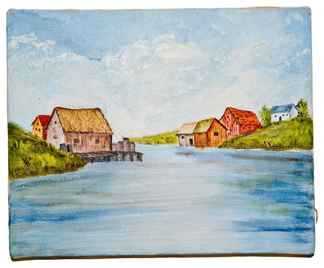 Coastal Maine Seascape traditional artwork