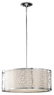 Three-Light Large Chrome Pendant contemporary pendant lighting